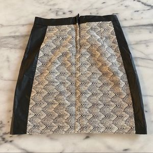 H&M Skirts - Leather and texture skirt